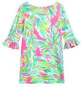 Lilly Pulitzer R) Mini Sophie UPF 50+ Ruffle Sleeve Shift Dress
