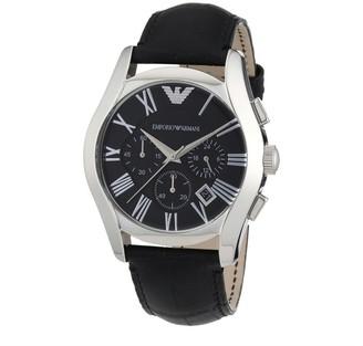 Emporio Armani Men's AR1633 'Classic' Chronograph Black Leather Watch