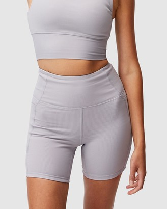 Cotton On Body Active - Women's Grey Tights - Rib Pocket Bike Shorts - Size M at The Iconic