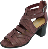 Dollhouse Wine Cross-Strap Ripp Sandal