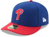 New Era Men's Blue/Red Philadelphia Phillies Alternate Authentic Collection On-Field Low Profile 59FIFTY Fitted Hat
