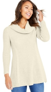 Style&Co. Style & Co Waffle-Knit Cowlneck Sweater, Created for Macy's