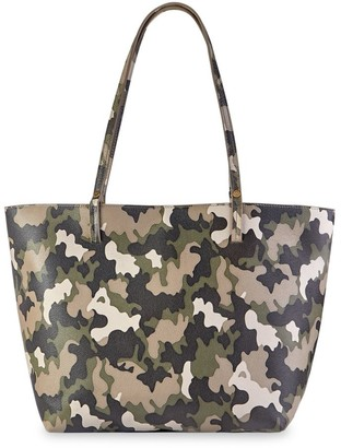 GiGi New York Tori Camo Leather Tote