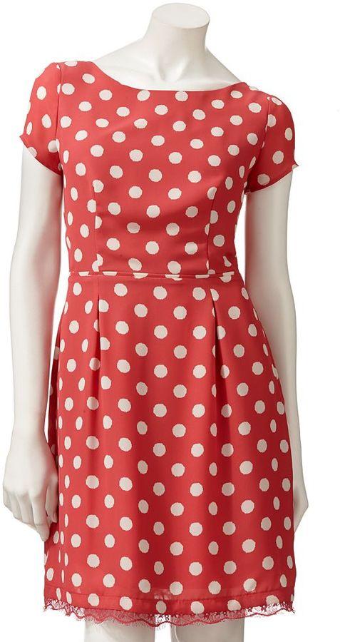 Lauren Conrad polka-dot dress - women's