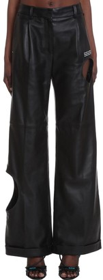 Off-White Meteor Formal Pants In Black Leather