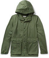 Engineered Garments Canvas Hooded Parka - Army green