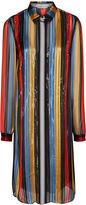 Marco De Vincenzo Multi Vertical Stripe Shirt Dress