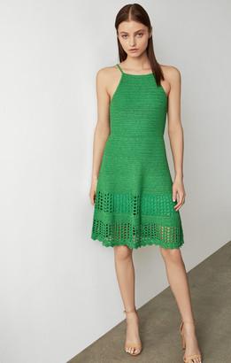 BCBGMAXAZRIA Knit Crochet Swing Dress