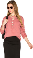 Michael Lauren Dominic Lace Up Pullover in Rose. - size M (also in )