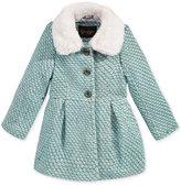 Jessica Simpson Lurex Tweed Coat with Faux-Fur Collar, Little Girls (2-6X)