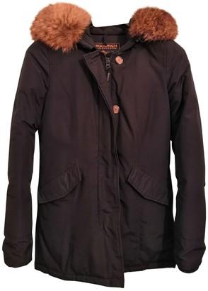 Woolrich Blue Wool Coat for Women