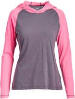 Soffe Neon Pink & Gray Heather Hooded Raglan Top