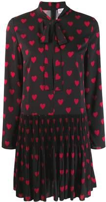 RED Valentino heart print shift dress