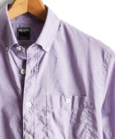 Todd Snyder Lightweight Button Down Shirt in Lilac
