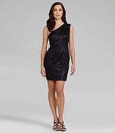 Adrianna Papell One-Shoulder Sequin Lace Dress