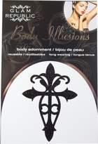 Glam Republic Body Illusion Body Adornment Black Glitter Large Cross