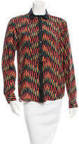 M Missoni Silk Button-Up Top w/ Tags
