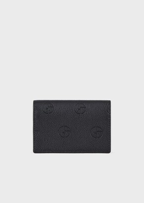 Giorgio Armani Leather Business-Card Holder With Embossed Logo