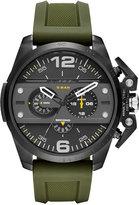 Diesel Men's Chronograph Ironside Olive Silicone Strap Watch 48x55mm DZ4391