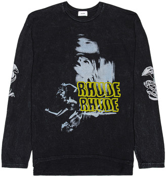Rhude Blue Woman Long Sleeve Tee in Black | FWRD