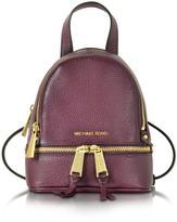 Michael Kors Rhea Zip Leather Extra Small Messenger Backpack