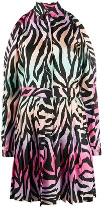 Philipp Plein Silk Jungle Shirt Dress
