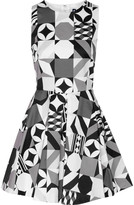 MSGM Printed cotton-blend mini dress