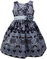 Jayne Copeland Blue Floral Sleeveless A-Line Dress - Toddler & Girls