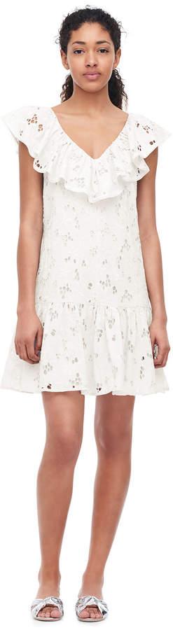 Rebecca Taylor Adriana Embroidered Ruffle Dress