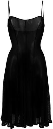 DSQUARED2 Sheer Flared Dress