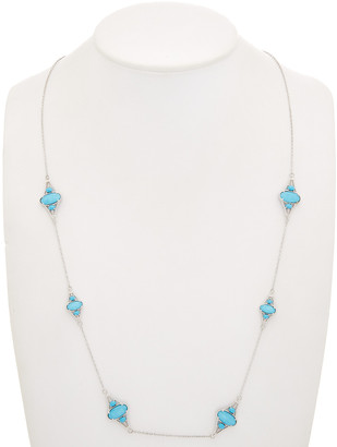Judith Ripka Silver Station Necklace