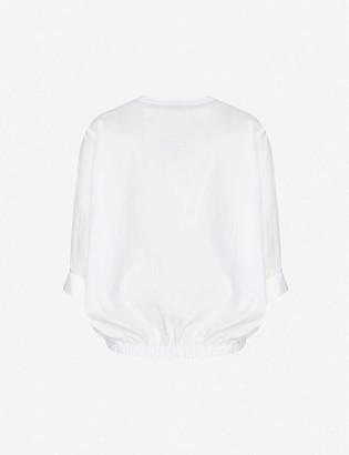 3.1 Phillip Lim Dolman-sleeve cotton-poplin top