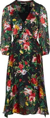 Alice + Olivia Abbey Fil Coupe Chiffon Wrap Dress