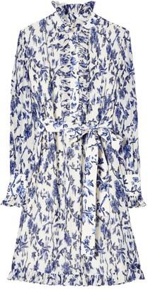 Tory Burch Deneuve Floral Ruffled Shirtdress
