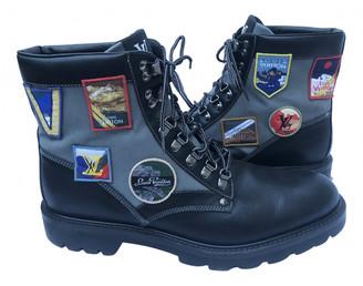 Louis Vuitton Oberkampf Black Leather Boots