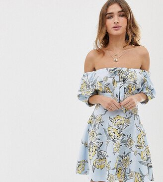 Bardot Sisters Of The Tribe Petite mini dress in floral-Blue