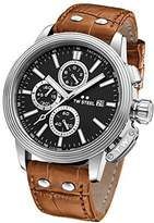 TW Steel 'CEO Adesso' Quartz Stainless Steel Casual Watch, Color:Brown (Model: CE7003)