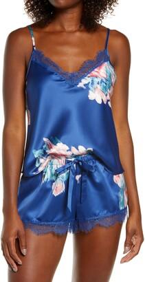 Jonquil Lovely Rita Floral Satin Camisole Short Pajamas
