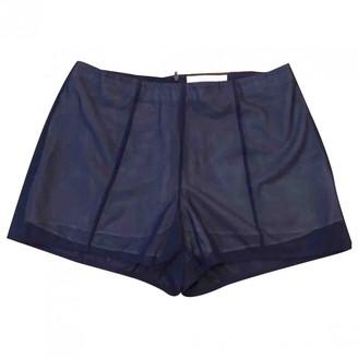 Cacharel Blue Silk Shorts for Women