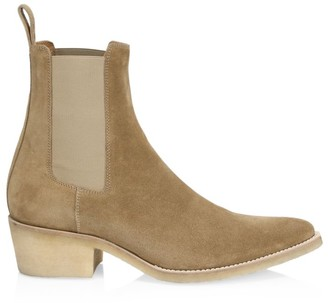 Amiri Crepe Suede Point-Toe Chelsea Boots