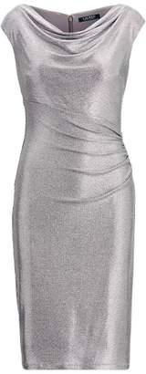 Ralph Lauren Metallic Cap-Sleeve Dress