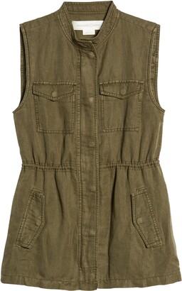 Treasure & Bond Linen Blend Utility Vest
