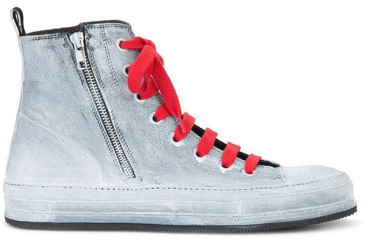 Ann Demeulemeester painted hi-top sneakers