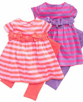 First Impressions Baby Playwear, Baby Girls Striped Dress and Leggings Set
