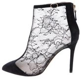 Monique Lhuillier Mesh Pointed-Toe Booties