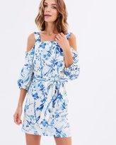Miss Selfridge Blue Bird Poplin CS Dress