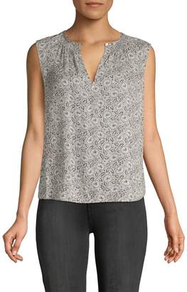 Rebecca Taylor Briar Printed Sleeveless Silk Top