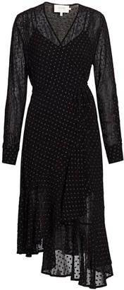 MUNTHE Husband Metallic Sheer Drape Dress
