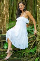 Tiered pintuck sundress, 'White Jasmine'