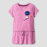 Cat & Jack Girls' Short Sleeve Patches Tunic Shirt - Cat & Jack Pizzazz Pink
